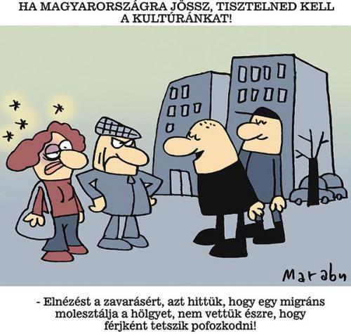 Marabu karikatúrája